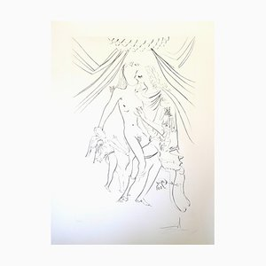 Venus, Mars, and Cupidon Etching by Salvador Dali, 1971