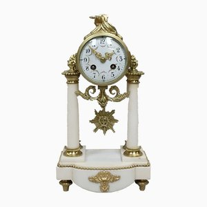 Antique French Marble Mantel Clock from Samuel Marti