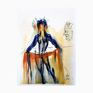 The Art of Loving Woodcut Print by Salvador Dali, 1979