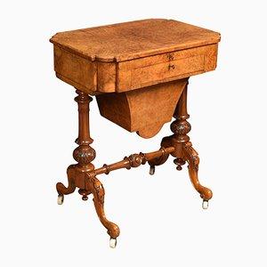 Victorian Walnut Work Table, 1870s