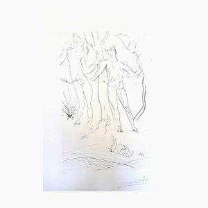 Adam and Eve Radierung von Salvador Dali, 1971