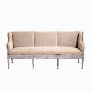 19th-Century Gustavian Wooden Sofa