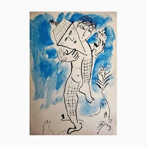 Man With House Lithografie von Marc Chagall, 1979