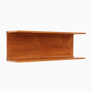 Mid-Century Danish Teak Wall Shelf from Pedersen & Hansen, 1960s