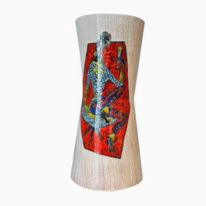 Glasierte Keramikvase Harlequin, 1950er