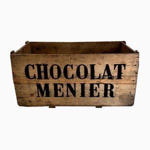 Grande Caisse à Chocolat Mid-Century en Pin, 1950s