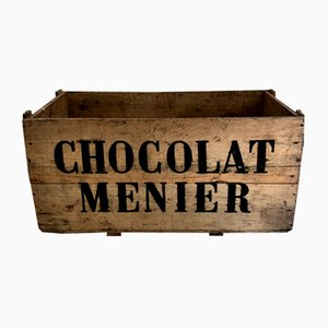 Große Mid-Century Schokoladenkiste aus Kiefernholz, 1950er