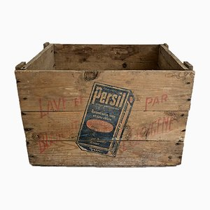 Mid-Century Pine Parsley Crate, 1950s