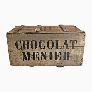 Caisse à Chocolat Mid-Century en Pin, 1950s