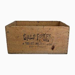 Mid-Century Pine Chocolate Crate, 1950s