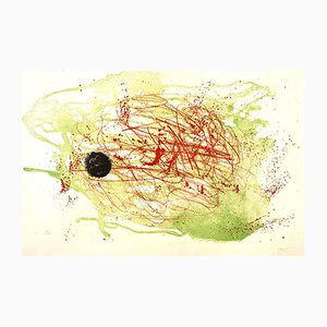 Series I, Red and Green Lithograph by Joan Miro, 1960s