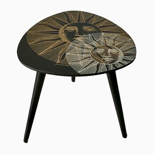 French Wooden Side Table by Atelier Fornasetti, 1950s