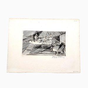 Gravure à l'Eau-Forte Paysage par Jacques Villon, 1949