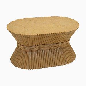 Tavolino da caffè a fascio di grano Mid-Century in bambù di McGuire, anni '50