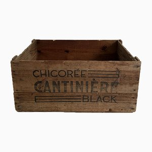 Mid-Century Pine Chicoree Crate, 1950s