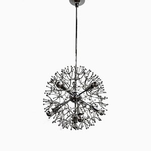Lustre Sputnik en Plaqué Chrome par Gaetano Sciolari, Italie, 1970s
