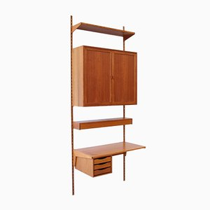 Danish Teak Wall Unit by Kai Kristiansen for Feldballes Møbelfabrik, 1960s