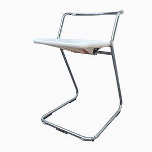 Italienischer Klappstuhl aus Metall & Kunststoff von Claudio Salocchi für Alberti, 1970er