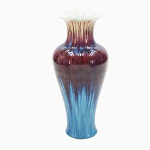 Große französische Mid-Century Keramikvase, 1960er