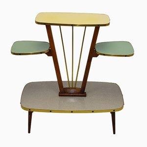 Deutscher Mid-Century Beistelltisch aus Schichtholz, 1950er
