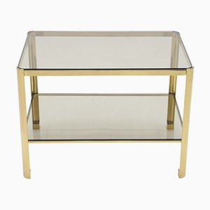 French Bronze and Glass Side Table by Jacques Quinet for Broncz, 1960s