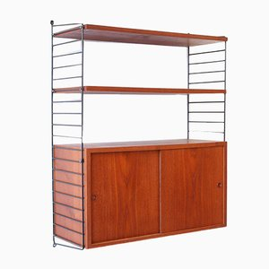 Teak Wall Unit by Kajsa & Nils Nisse Strinning for String, 1960s