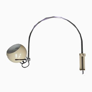 Vintage Chrome Plating and Steel Arc Sconce, 1970s