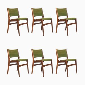 Danish Teak & Wool Model 89 Dining Chairs by Erik Buch for Anderstrup Mobelfabrik, 1960s, Set of 6