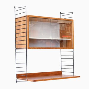 Mid-Century Teak Wall Unit by Kajsa & Nils Nisse Strinning for String