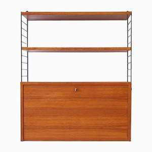 Mid-Century Teak Modular Shelving Unit by Kajsa & Nils Nisse Strinning for String