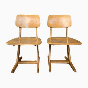 German Beech and Plywood Childrens Chair by Karl Nothhelfer for Casala, 1960s