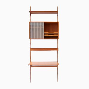 Mid-Century Danish Teak Wall Unit by Kai Kristiansen for Feldballes Møbelfabrik