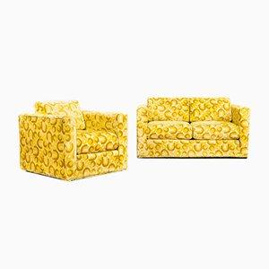Gelbes Zweiersofa & Sessel von Sawyers Furniture Company, 1970er