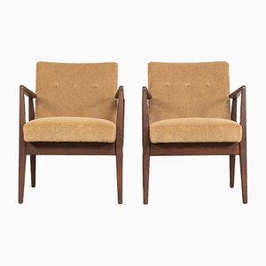Wood and Wood Lounge Chairs by Jens Risom, 1960s, Set of 2