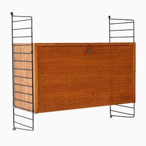 Mid-Century Teak Wall Cabinet by Kajsa & Nils Nisse Strinning for String