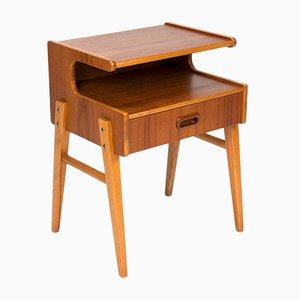 Schwedischer Mid-Century Nachttisch aus Teak, 1960er