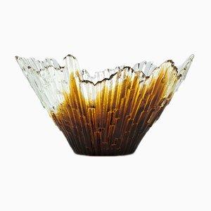 Humppila Schale aus Farbglas von Tauno Wirkkala, 1970er