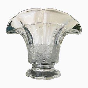 Französische Vintage Glasvase