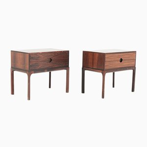 Mid-Century Scandinavian Rosewood Bedside Tables by Kai Kristiansen, 1960s, Set of 2