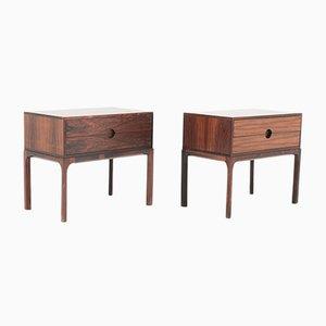 Tables de Chevet Scandinaves Mid-Century en Palissandre par Kai Kristiansen, 1960s, Set de 2