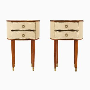 Mid-Century Scandinavian Bedside Tables by Halvdan Pettersson, 1940s, Set of 2