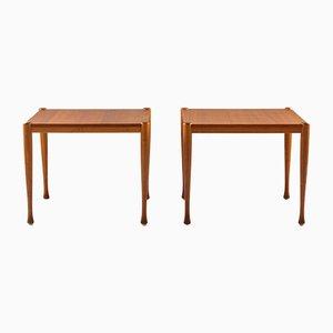 Moderne Beistelltische aus Teak im skandinavischen Stil, 1950er, 2er Set