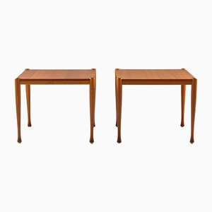Scandinavian Modern Teak Side Tables, 1950s, Set of 2