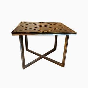 Italienischer Tisch aus Messing & verchromtem Metall von Willy Rizzo für Mario Sabot, 1970er