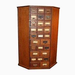 German Industrial Cabinet with 150 Drawers, 1930s