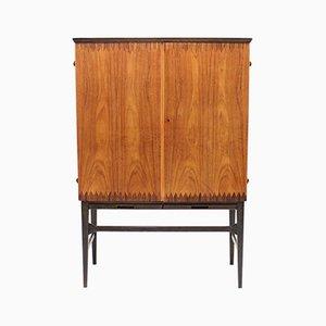 Scandinavian Modern Inlaid Bar Cabinet, 1950s