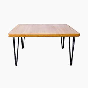 Vintage Danish Steel and Teak Coffee Table from Trioh, 1982