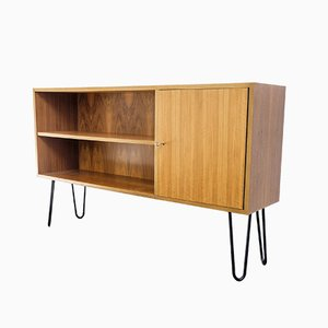German Steel and Walnut Shelf from WK Möbel, 1960s