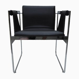 Modernist Chrome and Skai Armchair, 1960s
