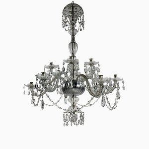 Antique Italian Crystal Chandelier, 1830s